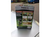 RONSEAL FENCE SPRAYER BATTERY OPERATED.USED ONCE