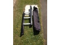 FOLDING LADDER AND CASE,IDEAL FOR BARGE OR MANHOLE ACCESS