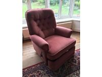 Reclining armchair, two seater, three seater settee and chair
