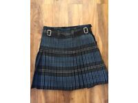 Gents Kilt .100% Pure new wool 16 oz heavy weight Ramsay Blue
