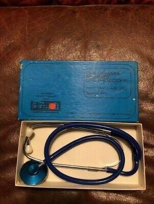 Vintage Labtron Colorama Sapphire Blue Lab 310 Nurses Stethoscope
