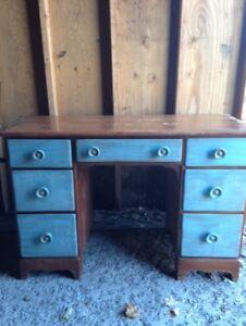 Solid Oak Wood Desk