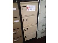 HALF PRICE great condition Silverline 4 Drawer Metal Office/Home Filing Cabinet High Quality