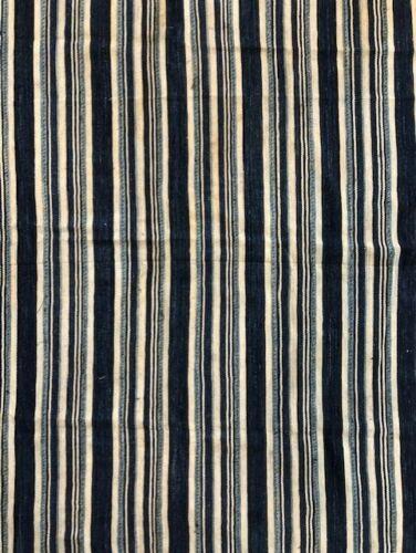 "Antique Hand Woven & Dyed INDIGO MUD CLOTH Mali West Africa 53"" X 39"" B2"