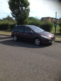 Peugeot 307 Estate 1.6, Diesel, Alloys, Panoramic Roof/electric blind, Rem central locking, Air con