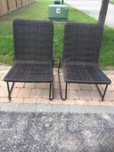 2 Wicker Outdoor Chairs