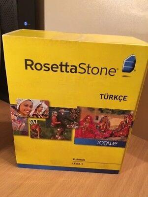 ROSETTA STONE TURKISH LEVEL 1 VERSION 4 32901 NEW SEALED FOR PC OR MAC (Rosetta Stone Pc)