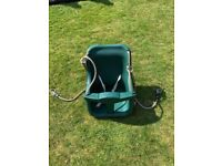 Baby swing for an outdoor climbing frame
