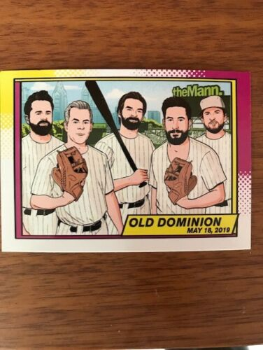OLD DOMINION  -  2019 CONCERT CARD - 4x group of the year- ACM awards show