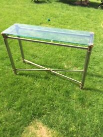 Glass top and metal legs CONSOLE TABLE. Hallway or any room. Arthur Llewelyn Jenkins