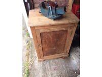 storage cupboard with shelf solid wood £10