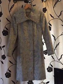 Sticky Fingers Blue 3/4 length coat size 10