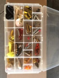 Fishing Tackle with case - $65 and 2 fishing rods for sale-$65