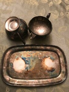 antique plate and bowls