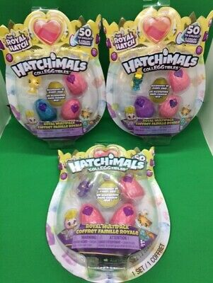 12x Hatchimals - (3) COLLEGGTIBLES Royal Hatch 4 Pack SEASON 6 Eggs LOT #1