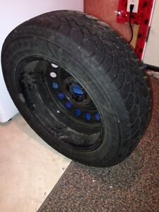 One year used Winter tires(All 4 tires-Goodyear) Kitchener / Waterloo Kitchener Area image 2