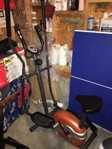 Elliptical bike (2-in-1) with LCD screen & removable seat $125