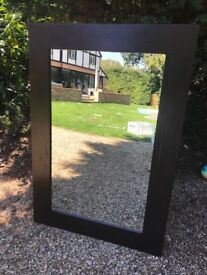 Large Mirror with Wood Surround