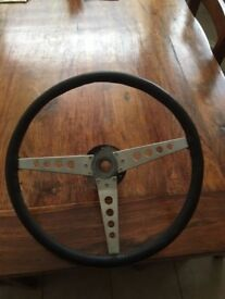 E TYPE JAGUAR STEERING WHEEL
