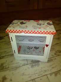 ***PRETTY UPCYCLED EGG BOX/CUPBOARD. HEN DESIGN ONE OFF UNIQUE***