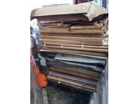 Pallet of wooden panels