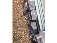 15 Blue Bullnose Bricks