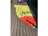 GP14 sailing dinghy various spinnakers