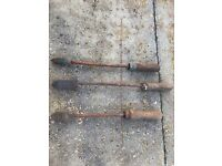 3 x OLD STYLE SOLDERING BOLTS
