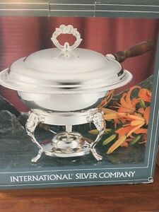 SILVERPLATED CHAFING DISH - NEVER USED