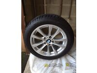 "Genuine 17"" BMW V-Spoke 395 Alloys Fitted With Dunlop SP Winter Sport Tyres"