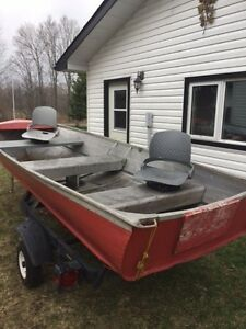 Aluminum Boat and Trailer