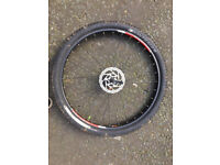 Bicycle Wheel 29er, disc , skewer and tyre