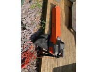 Two BLACK and DECKER strimmer and one FLYMO Garden Vac
