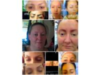 semi-permanent make-up eyebrows hair-stroke tattoo / Nonsurgical lifts
