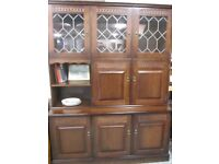TWO PARTS. DISPLAY CABINET WITH LIGHT