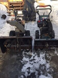 2 sears snowblowers