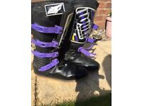 Motorcross Boots and Leather Gloves
