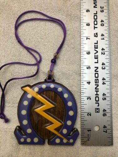 Omega Psi Phi Omega with Pearls and Lightning Bolt Greek Tiki Teekee