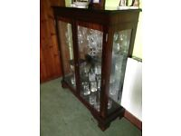 Glass fronted china cabinet with internal glass shelves