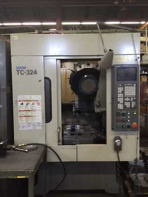 1998 Brother Model Tc-324n Cnc Drilling Tapping Center Auto Quick-table Pallet