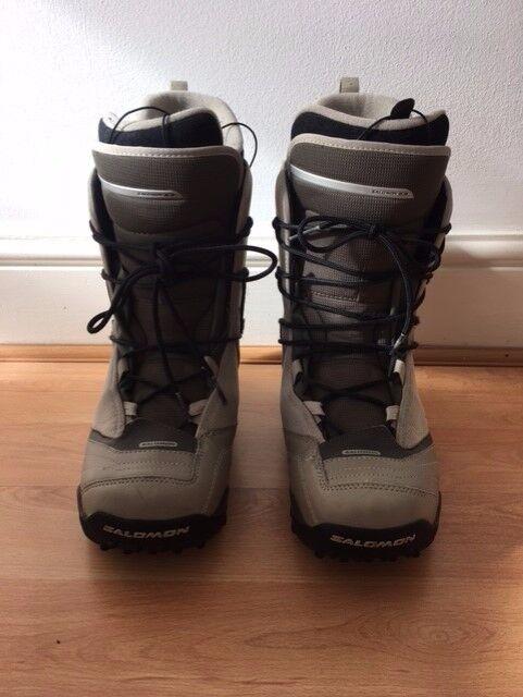 Salomon 'Cleaver' Men's Snowboard Boots (Size 9.5 UK) Khaki/Black/Cream (ORP £70)