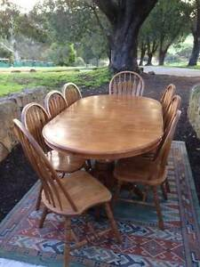 Dining table and 8 chairs Gidgegannup Swan Area Preview