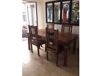 Jali Indian table & chairs