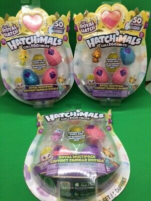 12x Hatchimals - (3) COLLEGGTIBLES Royal Hatch 4 Pack SEASON 6 Eggs LOT #2