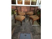 Chairs ex BREL Doncaster works board room chairs in 1st class brown cloth 1970's