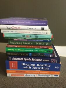 Nutrition/Health Books starting at $5.