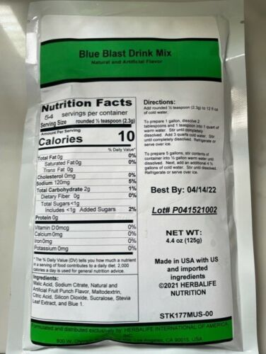 Beverage Mix-Blue Blast-Blue Raspberry-Cherry-Pina Colada-Strawberry-Watermelon
