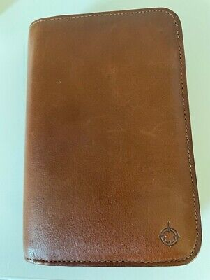 Franklin Covey Compact Leather Wallet Planner Zip Closure 25302 7 12x 5