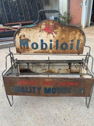 VINTAGE OIL CAN  Rack MOBILOIL