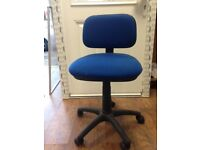 Good Condition Blue Colour Computer chair with adjustable height